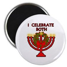 "Christmas AND Hanukkah 2.25"" Magnet (100 pack)"