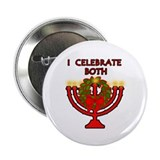 "Christmas AND Hanukkah 2.25"" Button (10 pack)"