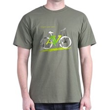 David green and yellow bike T-Shirt