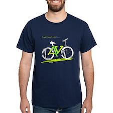 David green and yellow bike T-Shirt