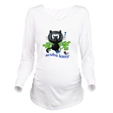 scuba kitty Long Sleeve Maternity T-Shirt