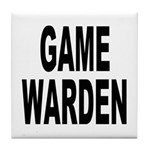 Game Warden Tile Coaster