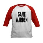 Game Warden (Front) Kids Baseball Jersey