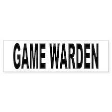 Game Warden Bumper Bumper Sticker