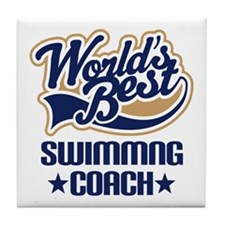 Swimming Coach (Worlds Best) Tile Coaster