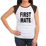 First Mate (Front) Women's Cap Sleeve T-Shirt