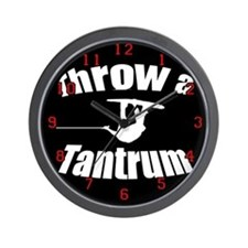 Throw a Tantrum Wall Clock