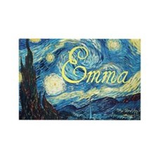 Emma Starry Night Rectangle Magnet