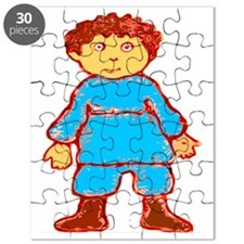 vintage cartoon boy Puzzle