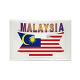 Malaysia flag ribbon Rectangle Magnet (10 pack)