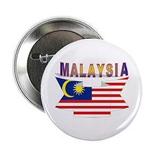 Malaysia flag ribbon Button