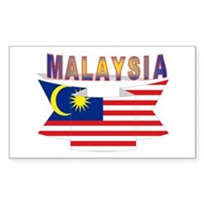 Malaysia flag ribbon Rectangle Decal