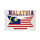 Malaysia flag ribbon Rectangle Magnet