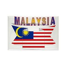 Malaysia flag ribbon Rectangle Magnet
