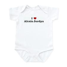 I Love Alexis Jordyn Infant Bodysuit