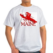 Maine Lobster Ash Grey T-Shirt