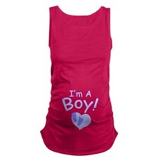I'm A Boy Maternity Tank Top
