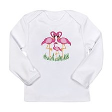 So Sweet Flamingos Long Sleeve Infant T-Shirt