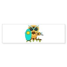 Surfing Boy Owl Bumper Sticker