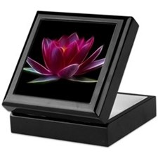 Lotus Flower Water Plant Keepsake Box
