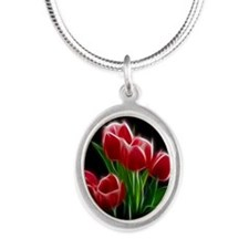 Tulip Flower Red Plant Necklaces