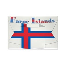 Faroe Island flag ribbon Rectangle Magnet