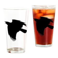 Black Falcon Silhouette Drinking Glass