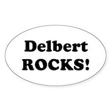 Delbert Rocks! Oval Decal
