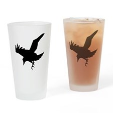 Black Eagle Silhouette Drinking Glass