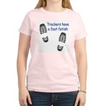Foot Fetish Women's Pink T-Shirt