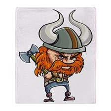 Cute Viking Throw Blanket