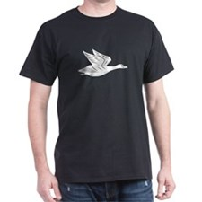 White Flying Duck Silhouette T-Shirt