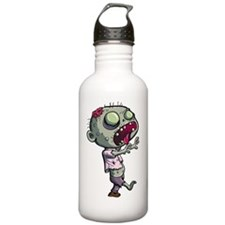 Cute zombie with tongu Sports Water Bottle