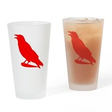 Red Crow Silhouette Drinking Glass