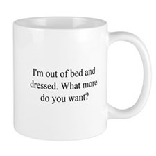 Out of Bed Small Mug