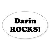 Darin Rocks! Oval Decal
