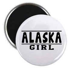 "Alaska Girl Designs 2.25"" Magnet (10 pack)"