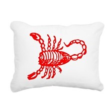 Red Scorpion Rectangular Canvas Pillow