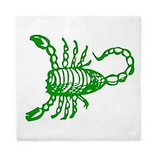 Green Scorpion Queen Duvet