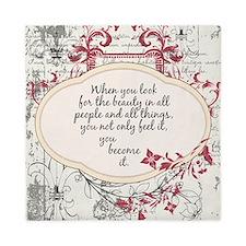Inspirational Beauty Quote Queen Duvet