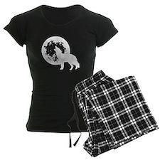 Wolf Howling At Moon pajamas