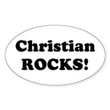 Christian Rocks! Oval Decal