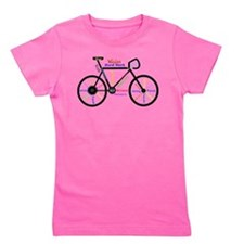 Bike made up of words to motivate Girl's Tee