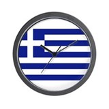 Flag of Greece Wall Clock