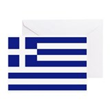 Flag of Greece Greeting Cards (Pk of 10)