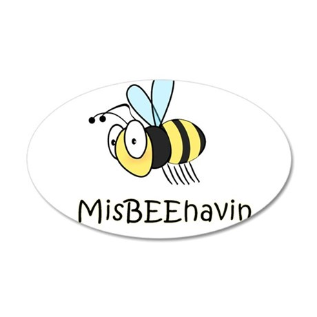 MisBEEhavin 20x12 Oval Wall Decal
