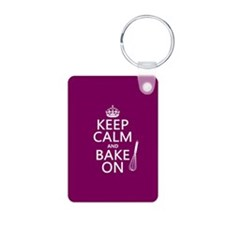 Keep Calm and Bake On Keychains