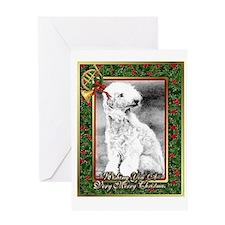 Bedlington Terrier Dog Christmas Greeting Cards