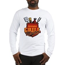 Pocket Grill Master Personalized Long Sleeve T-Shi