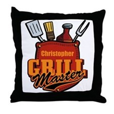 Pocket Grill Master Personalized Throw Pillow